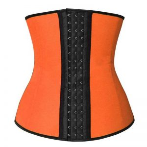 Latex Waist Training Underbust Corset Weight Loss Body Shaper Orange