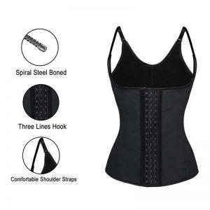 Steel Boned Latex 3 Rows of Hooks Underbust Sport Workout Waist Trainer Body Shaper Corset Vest