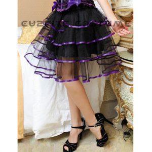 Clearance! Burlesque Style Multi Layer Tulle Skirt - Purple