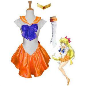 Orange Sailor Venus Costume