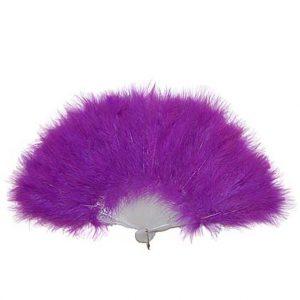Purple Burlesque Feather Fan