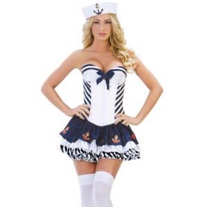 Sassy Stripe Sailor Costume