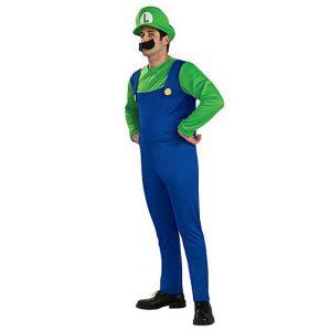 Super Mario Bros Luigi Mens Costume