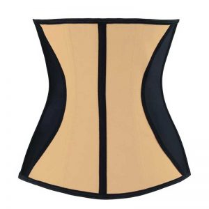 Latex Underbust Waist Trainer Shaper Corset for Weight Loss Apricot