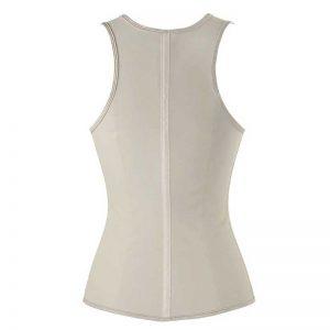 Latex Underbust Waist Training Cincher Steel Boned Body Shaper Corset Vest