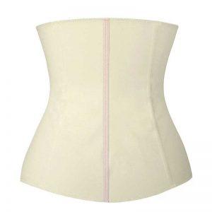 Latex Waist Training Underbust Corset Body Shapewear Ivory