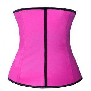 Latex Waist Training Underbust Corset Weight Loss Body Shaper Pink