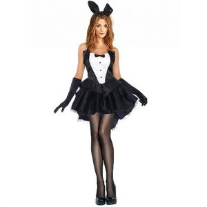 Playful Tuxedo Bunny Costume