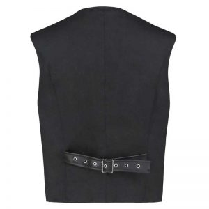 Steampunk Victorian Faux Leather Patchwork Waistcoat Casual Vest